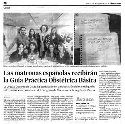 Faro de Ceuta: Presentación de la Guía de valoración obstétrica
