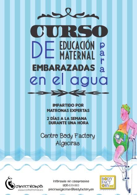 Curso de educación maternal en el agua