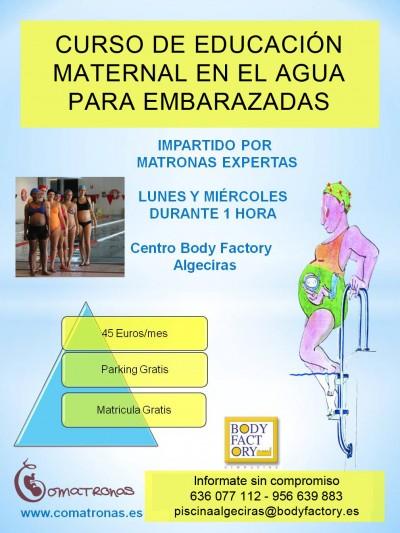 Cartel curso educación maternal en el agua - ALGECIRAS
