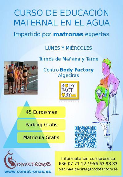 Curso educación maternal en el agua impartido por matronas en Algeciras