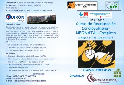 Curso de RCP Neonatal en Málaga