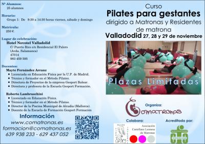 Diptico (1) curso de pilates para matronas en Valladolid