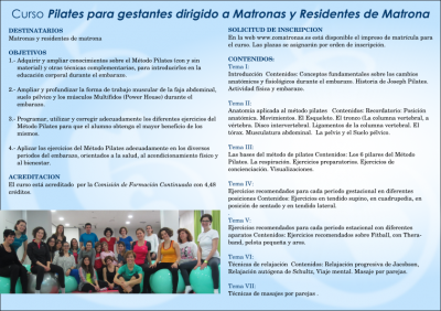 Diptico (2) curso de pilates para matronas en Valladolid