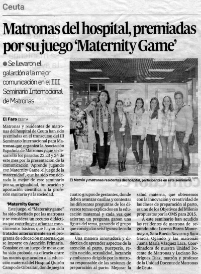Noticia Maternity Game - El Faro de Ceuta