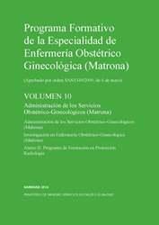 Progrma formativo de la especialidad de matrona -Volumen 10