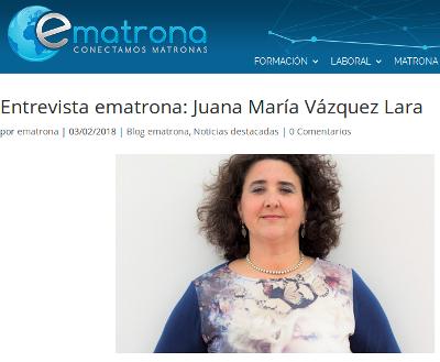 Juana Vázquez Lara entrevista ematrona