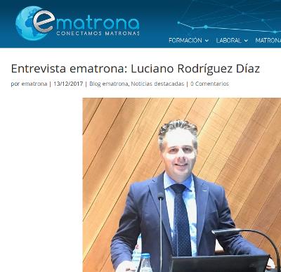 Luciano Rodríguez Díaz entrevista ematrona