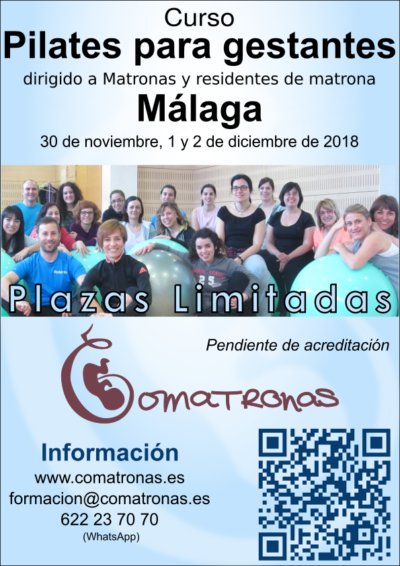 Cartel Pilates matronas Málaga 2018