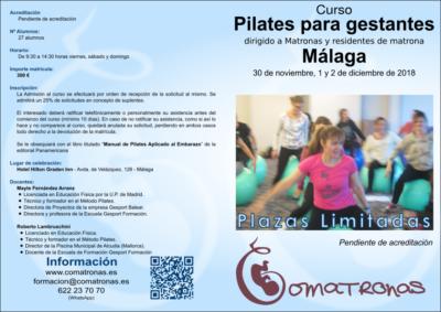 Díptico 1 Curso Pilates matronas Malaga 2018